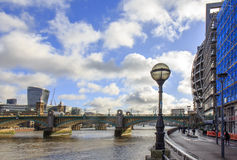 City of London and Southwark bridge.UK. Stock Photos