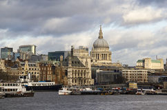City of London and St. Pauls Cathedral Royalty Free Stock Image