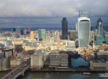City of London - Storm Royalty Free Stock Photography