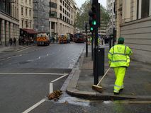 City of London street Sweepers Royalty Free Stock Photos