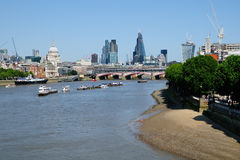 City of London in summer Royalty Free Stock Photos