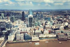 City of London and sunny day Royalty Free Stock Image