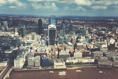 City of London and sunny day (vintage style toned) Royalty Free Stock Photos