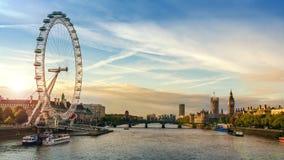 City of London sunrise Stock Image