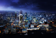 City of London At Sunset Stock Photography