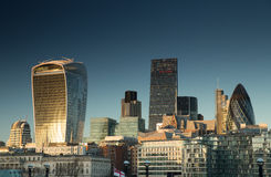 The city of London at sunset. Royalty Free Stock Image