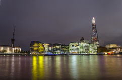 City of London - Thames river and The Shard Stock Images