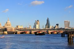 City of London, Thames river Stock Photos