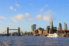 City of London - Thames river Royalty Free Stock Photography