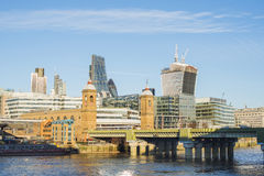 City of London on Thames Stock Photography