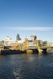 City of London on Thames Stock Photos
