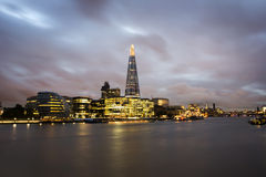 City of London on Thames Royalty Free Stock Photo