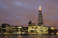City of London on Thames Stock Images