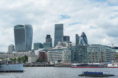 City Of London With Thames stock photos