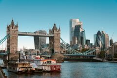 The City of London and Tower Bridge