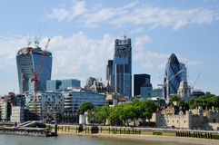 City of London from Tower Bridge Royalty Free Stock Photography