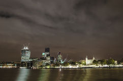City of London and Tower fortress skyline Royalty Free Stock Photography