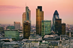 City of London at twilight Royalty Free Stock Images