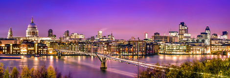 City of London at twilight Royalty Free Stock Photo