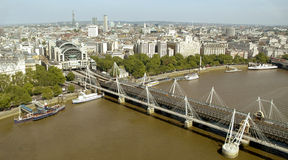 City of London, UK. River Thames and one of the many bridges built over the stream Stock Photo