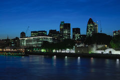 City of London UK at dusk Stock Images