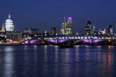 City of London UK skyline at night Royalty Free Stock Photo