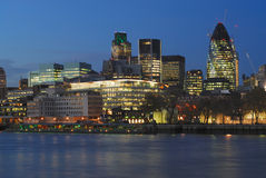 City of London UK from the South Bank Stock Images