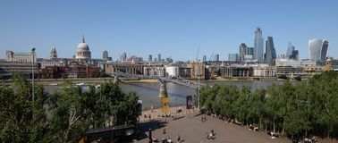 City of London, United Kingdom 6th July 2019: London skyline panorama seen from south bank royalty free stock photo