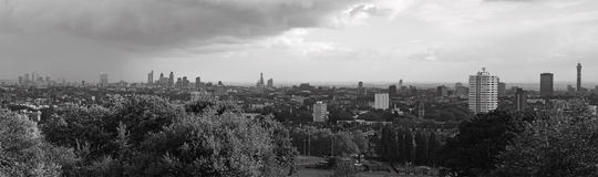 City of London. A view of London from Hampstead Heath Royalty Free Stock Images