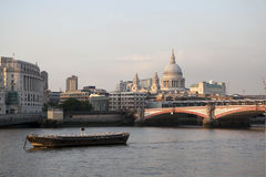 City of London view from the London bridge. Stock Photography