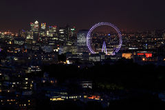 City of London. A view of London from Mayfair Stock Photography