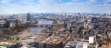 City of London view. Panoramic view from the 32 floor of London's skyscraper Royalty Free Stock Image