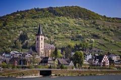 Die Stadt Lorch am Rhein royalty free stock photos