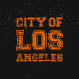 City of Los Angeles - Artwork for wear in custom colors Stock Image