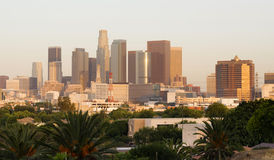 City of Los Angeles Horizontal Downtown Buildings Architecture Royalty Free Stock Image