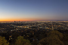 City of Los Angeles Night Royalty Free Stock Images