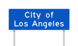 City of Los Angeles road sign Stock Photo