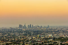 City of Los Angeles in sunset Royalty Free Stock Images