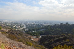 The City of Los Angeles. A view of Los Angeles, CA from the mountains Royalty Free Stock Photos