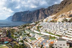 City of Los Gigantes in Tenerife, Canary Islands, Spain stock photo