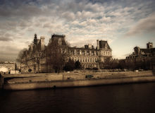 City of love. Paris castle and Seine river Stock Photography