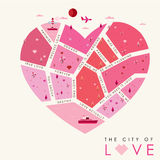 The city of love-01. The City of Love Background, Vector illustration Royalty Free Stock Photography