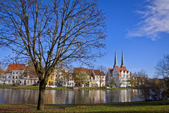 City of Lubeck, Germany. Skyline of the medieval city of Lubeck, Germany Stock Photography