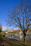City of Lubeck, Germany. Skyline of the medieval city of Lubeck, Germany Stock Image