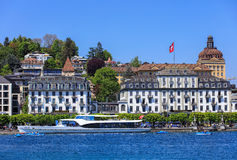 City of Lucerne in spring Stock Photography