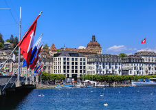 City of Lucerne in springtime Royalty Free Stock Photography