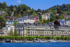 City of Lucerne in Switzerland in springtime Royalty Free Stock Photography