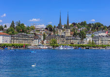 City of Lucerne in Switzerland in springtime Stock Photography