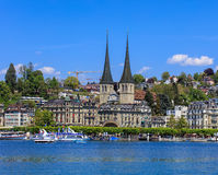 City of Lucerne in Switzerland in springtime Stock Image