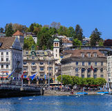 City of Lucerne in Switzerland in springtime Stock Images